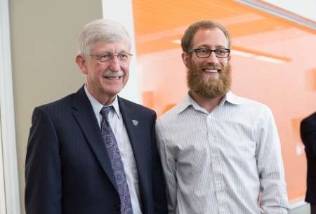 Michael Sunshine pictured with NIH director Dr. Francis Collins