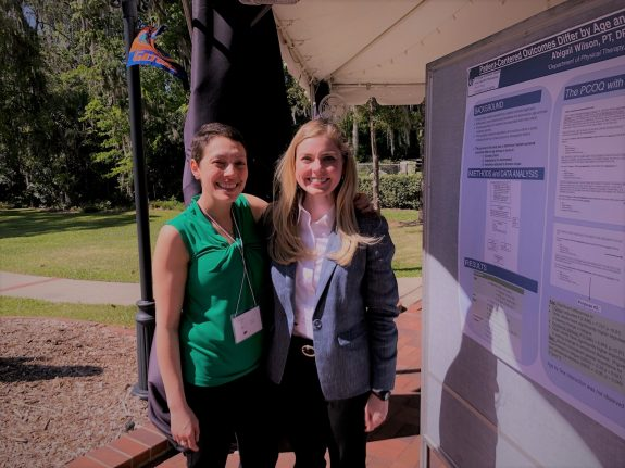 Katie Buter and Abby Wilson at the 2018 Neuromuscular Plasticity Symposium poster session.