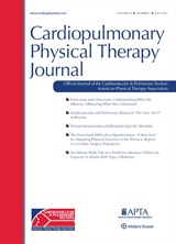 Picture of Cardiopulmonary Physical Therapy Journal cover page