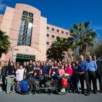 Photo of U.K. researchers cycle to MBI