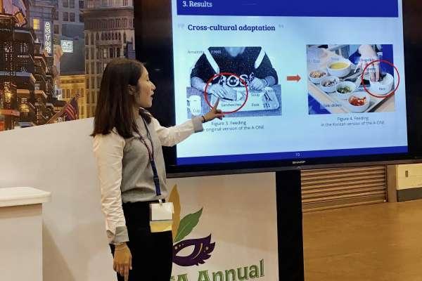 Jaewon presenting at AOTA