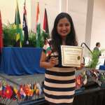 Bansal with her International Student Achievement Award