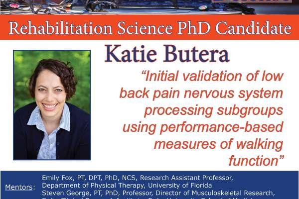 Flyer of Katie Butera's Dissertation Defense