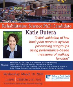 RSD student Katie Butera's Dissertation Defense Flyer