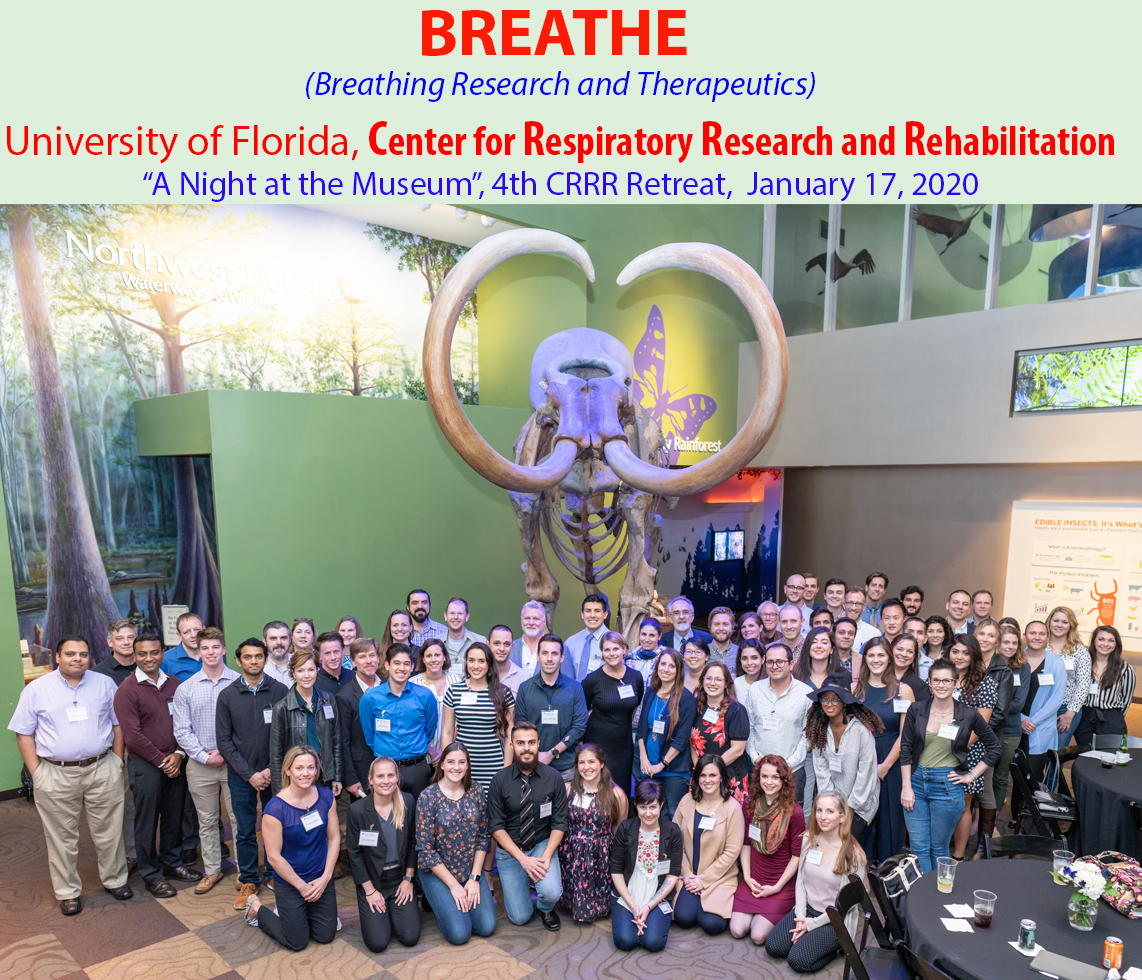 Group photo of the Center for Respiratory Research and Rehabilitation Retreat.