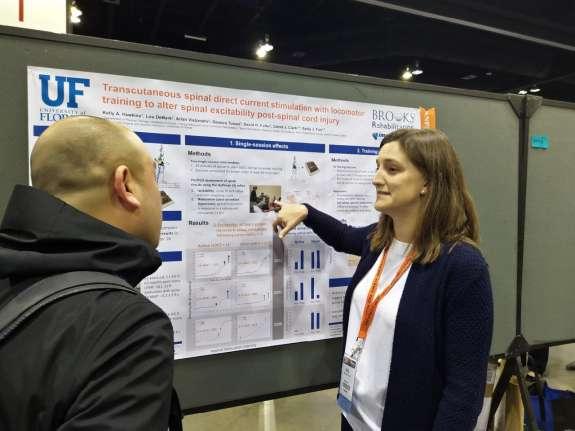 Kelly Hawkins presenting her poster at CSM