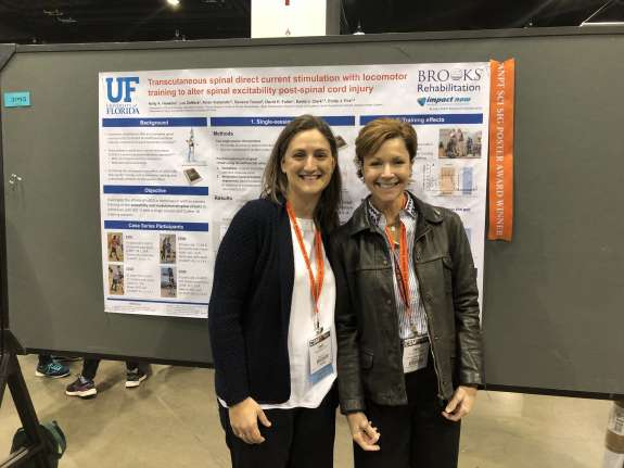 Kelly Hawkins with her mentor (to the right) Dr. Emily Fox