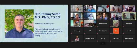 Photo of Tommy Sutor's virtual commencement