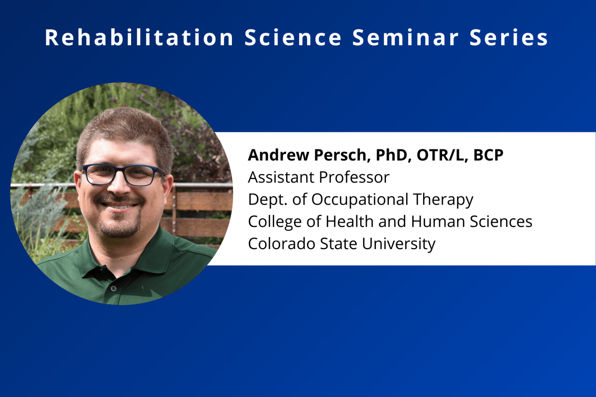Calendar Feature Photo for Dr Andy Persch's Rehab Science Seminar on October 28