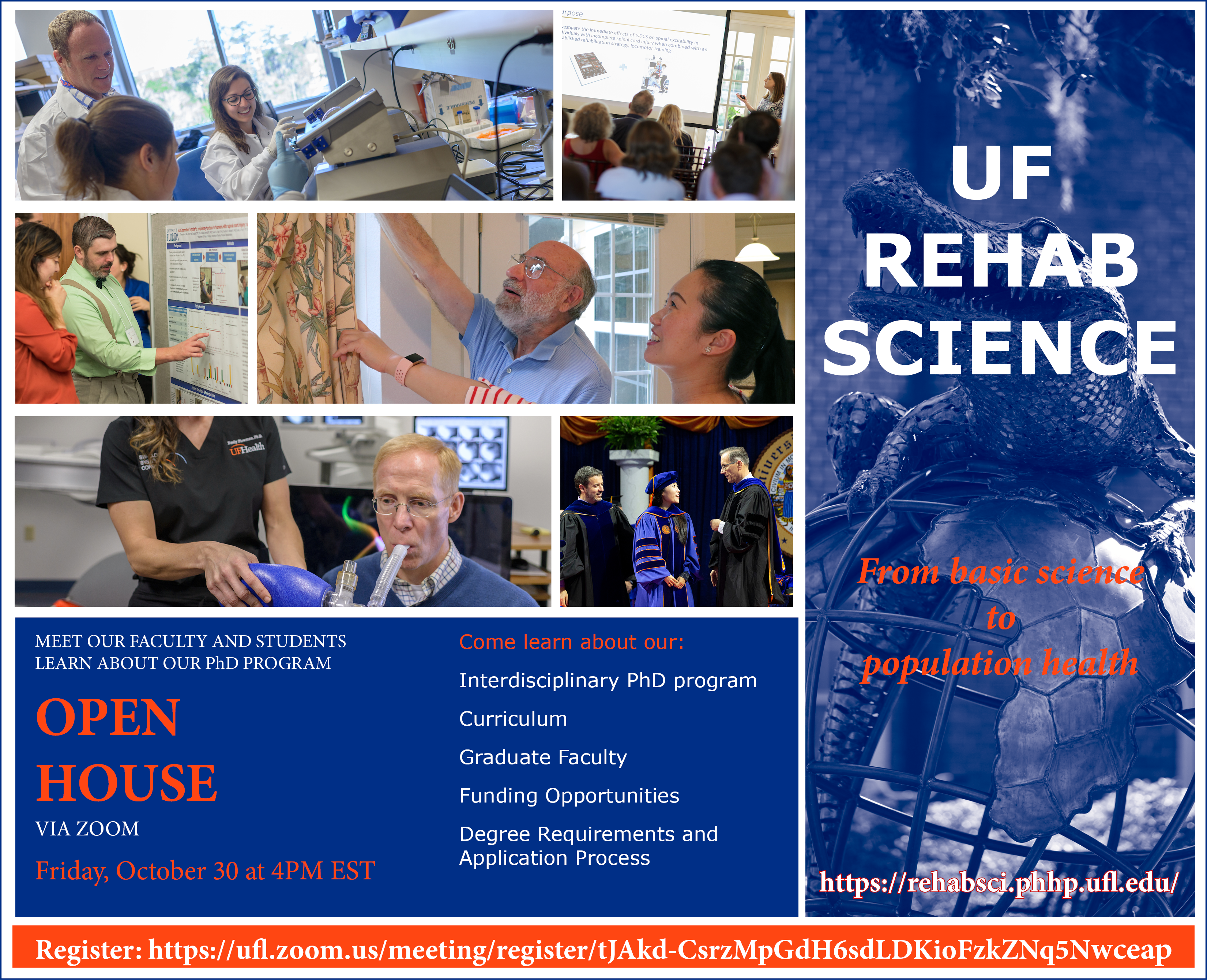 Rehabilitation Science Doctoral Program open house flier